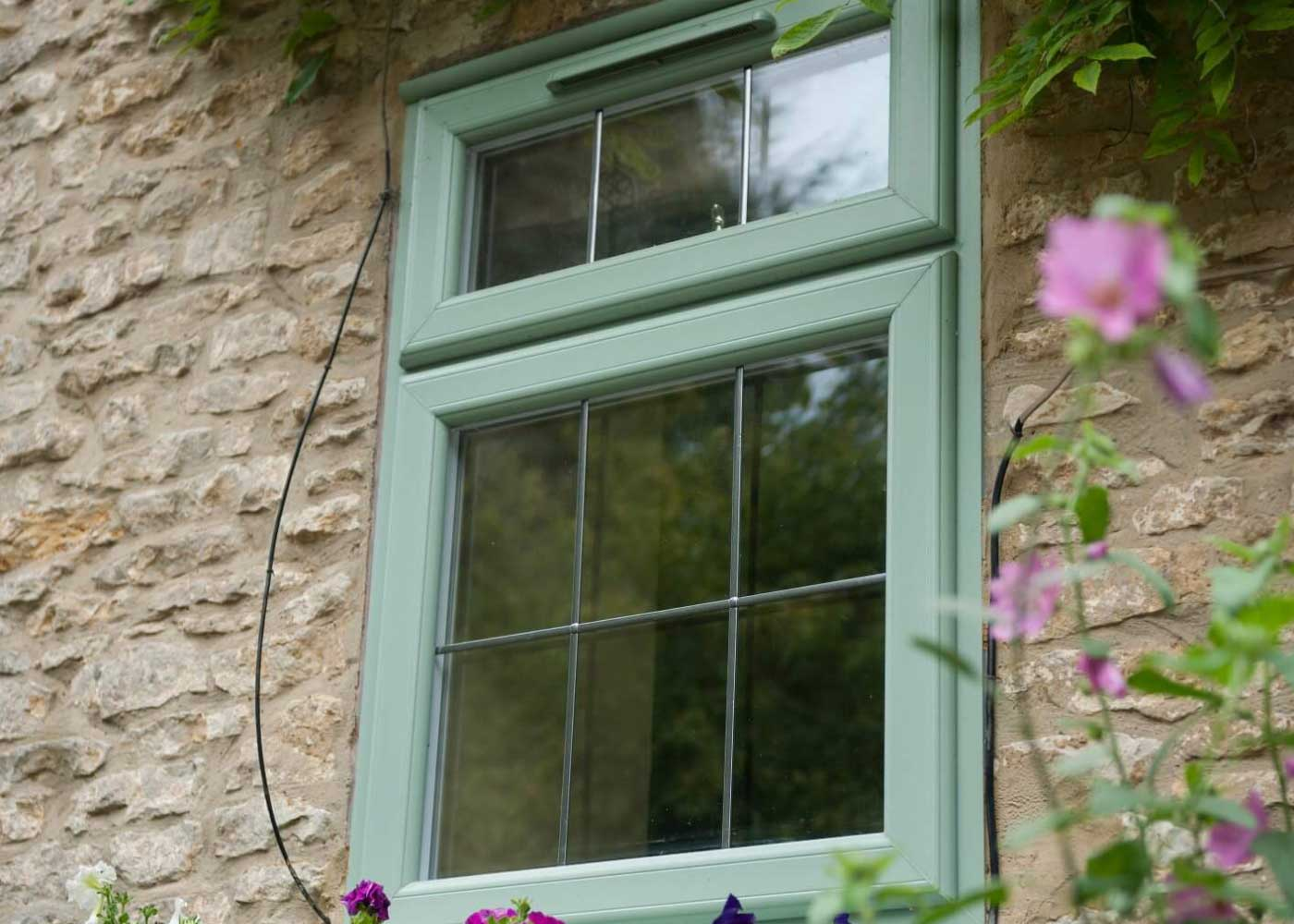 casement windows green