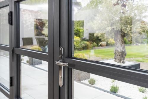 Aluminium - Bi Fold Door with transom