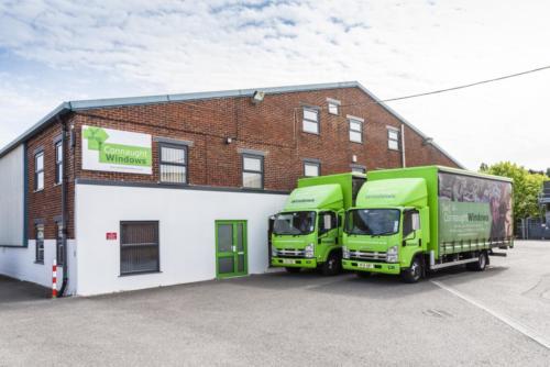 Front Factory & Lorries
