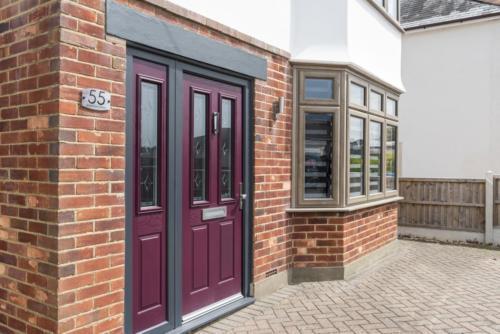 Magenta Composite Door