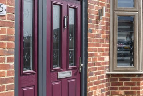 Magenta Composite Door 2