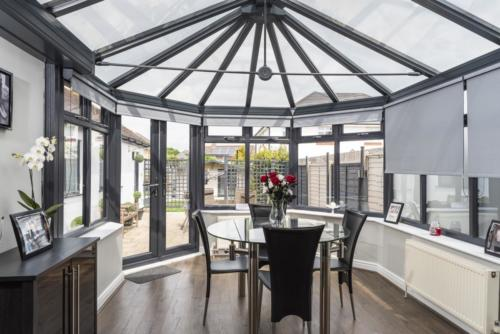 Pvc Anthracite Grey Victorian Conservatory